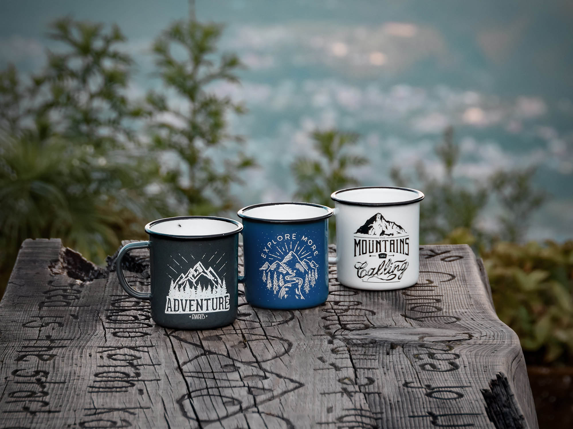 Travel Enamel Mugs
