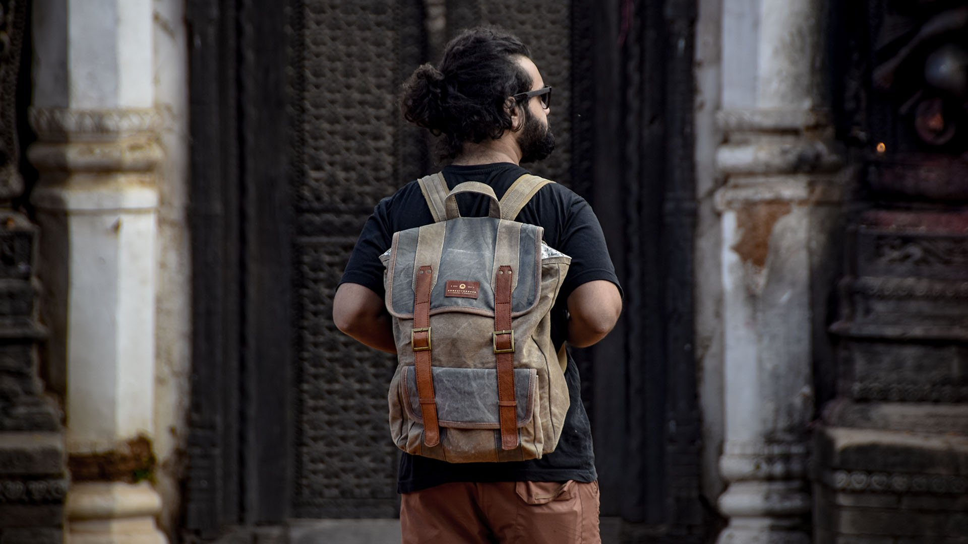 Recycled Eco-Friendly Canvas Backpack