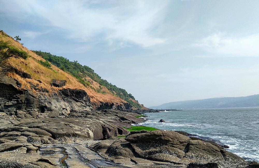 Harihareshwar Beach in the afternoon